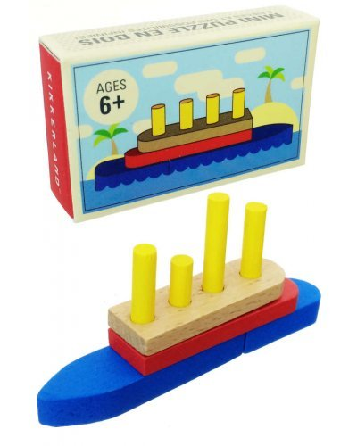 Mini Ship Puzzle Building Blocks Wooden