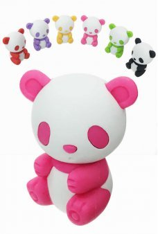 Panda Bear Eraser Mini Puzzle Colors