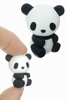 Panda Bear Eraser Mini Puzzle Black White