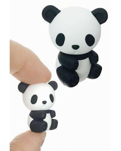 Panda Bear Eraser Mini Puzzle Black White