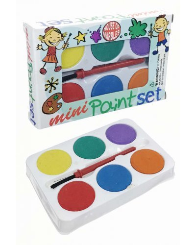 Mini Paint Set 6 Colors Portable with Brush