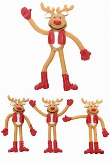 Reindeer Friends Flexible Figures Set of 3