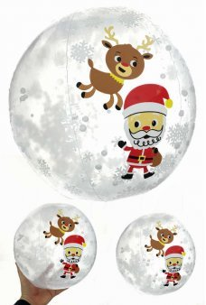 Santa and Rudolph Snow Globe Inflatable Ball