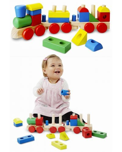 Stacking Train Large Wooden Creative Toy