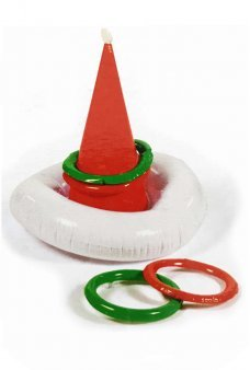 Christmas Santa Hat Ring Game Inflatable