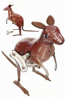 Kangaroo Hopping Jumping Windup Tin Toy