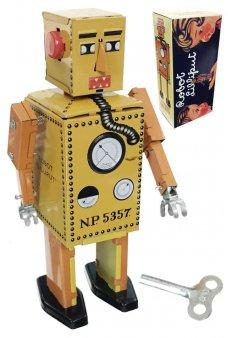 Lilliput Robot Junior Yellow Tin Toy Original