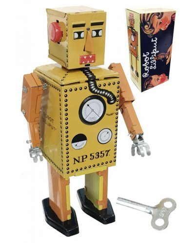 Lilliput Robot Junior Yellow Tin Toy Original