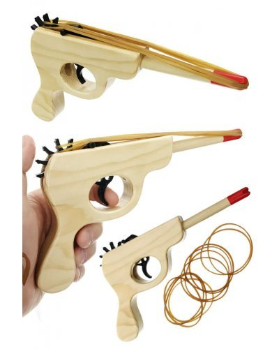 Rubber Band Blaster Wood Gun Schylling