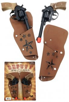 Deputy Sheriff Double Holster 8 Shot Ring Cap Gun Set