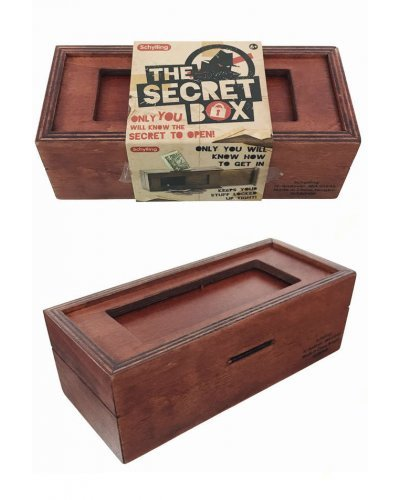 The Secret Box Retro Wooden Vault Bank