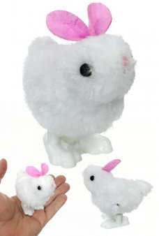 Hopping Easter Bunny Pink Ears Wind Up