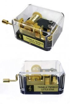 Twinkle Little Star Golden Windup Music Box