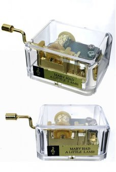 Mary Had A Little Lamb Crank Gold Music Box