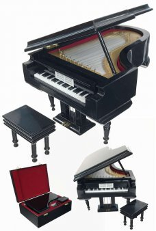 Grand Piano Music Box with Bench Fur Elise