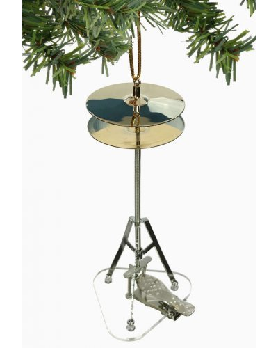 High Hat Cymbal Ornament Silver Gold
