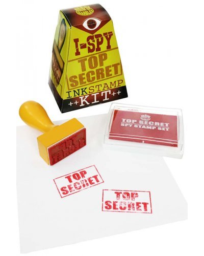 I-Spy Top Secret Rubber Stamp Kit Red Ink