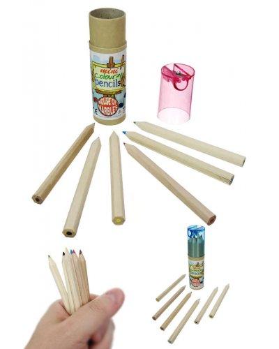 Mini Color Pencils 6 Colors with Sharpener
