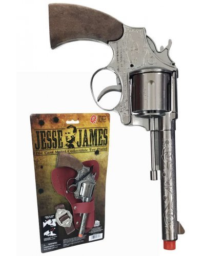 Jesse James Toy Pistol 12 Shot Ring Cap Gun Die Cast