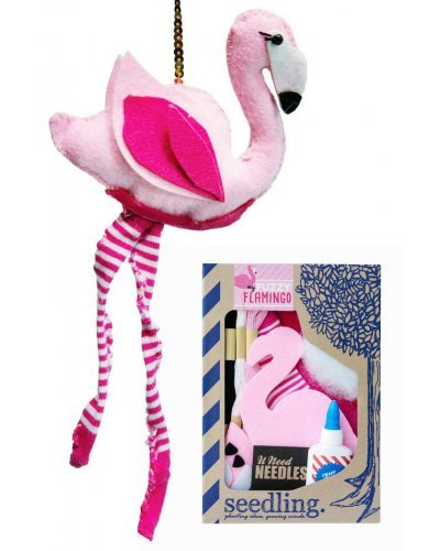Pink Fuzzy Flamingo Plush Sewing Kit