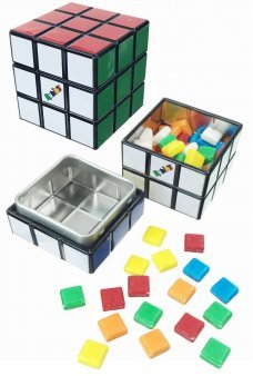 Tetris Cube Tin with Square Candy Inside