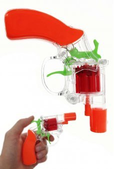 Snub Nose Cap Gun Clear Colorful Safety