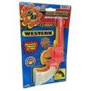 Western Revolver Cap Gun Orange Plastic