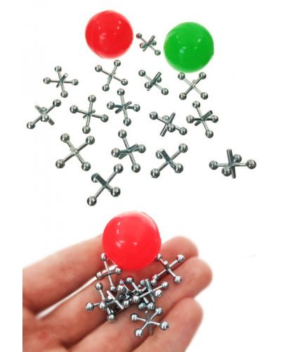 Double Metal Jacks Game 2 Balls Vintage Set