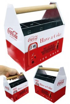 Coke Tin Utensil Caddy Holder Ice Cold