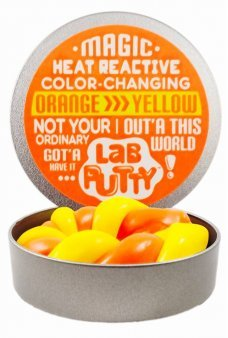 Heat Changing Lab Putty Orange to Yellow