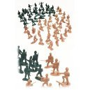 Retro Army Men Mini 60 Pieces Set WWII