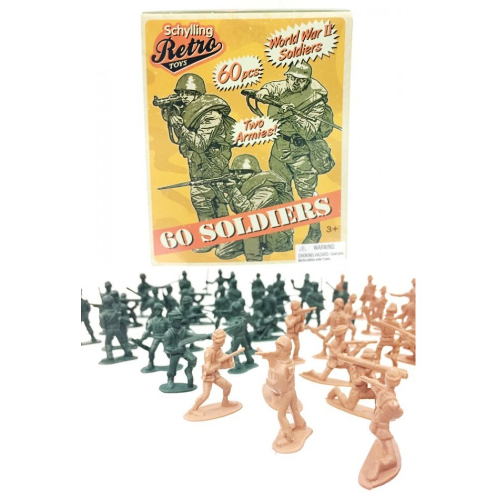 12 pcs Military Tan Action Figures Plastic Toy Soldiers Army Men