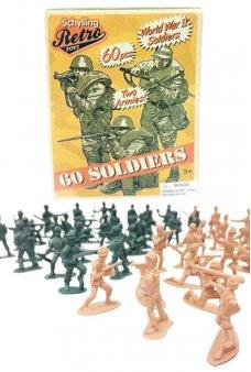 Retro Army Men Mini 60 Pieces Set WWII