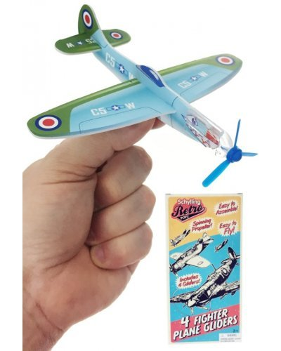 Fighter Planes Retro Gliders Set of 4 USA