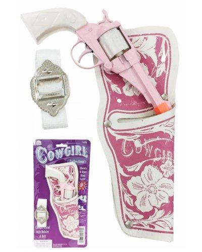 Cowgirl Pink Pistol Cap Gun White Handle