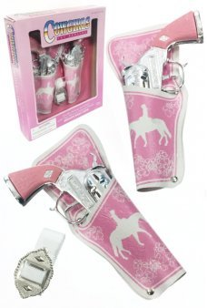 Cowgirl Cap Guns Double Holster Set Pink