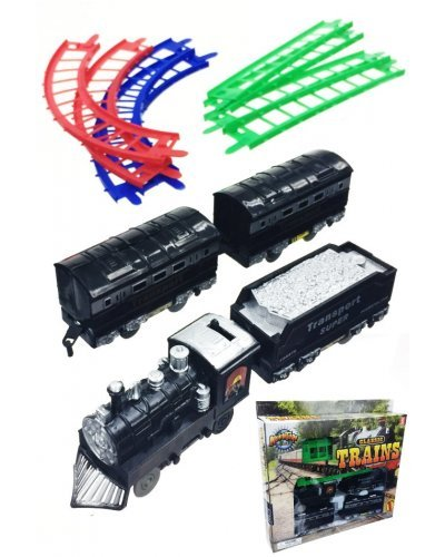 Classic Toy Train Set 4 Vehicles on Track