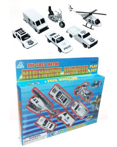 Police Highway Patrol 6 Vehicles Die Cast