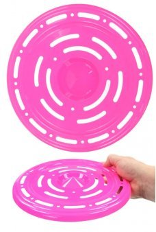 Flying Saucer Space Age Disc Hot Pink