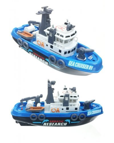 Research Boat Blue Water Action Jet Squirts