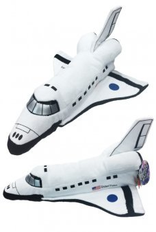Space Shuttle Plush White Soft 14 inch USA
