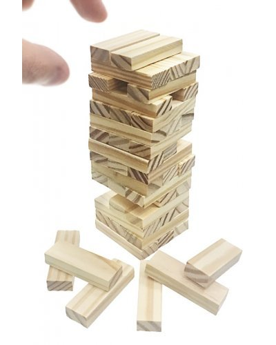 Wooden Tower Game Natural Wood Tumbles