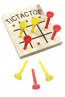 Tic Tac Toe Wood Game Vintage Family Play
