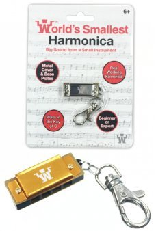 Harmonica World's Smallest Music Keyring
