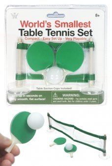 Table Tennis World's Smallest Ping Pong Set