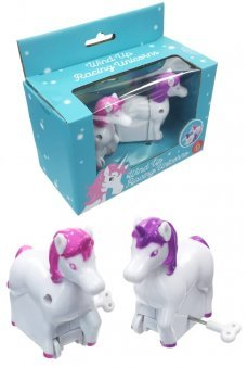 Unicorns WindUp Racing Set 2 Pink Purple
