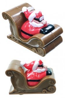 Santa's Racer Sleigh Pull Back with Goggles