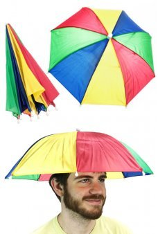 Umbrella Hat Rainbow Hands Free 20 Inches