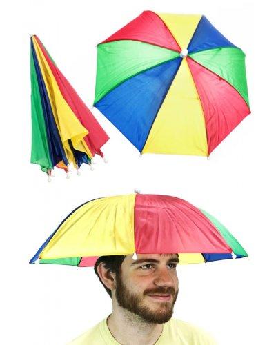 Umbrella Hat Rainbow Hands Free 20 Inches