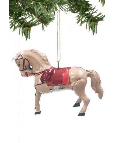 Horse Ornament Christmas Decoration Tin